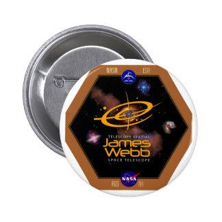 James Webb Space Telescope NASA Patch Pinback Button