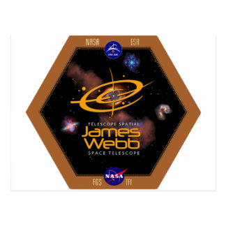 James Webb Space Telescope NASA Patch Postcard