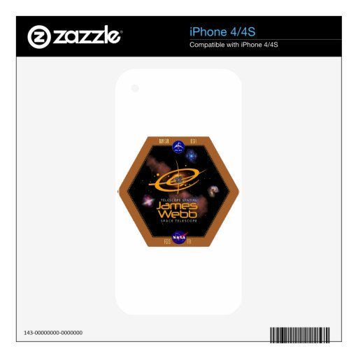 James Webb Space Telescope NASA Patch iPhone 4 Decal