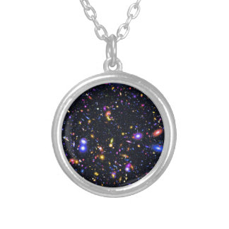 James Webb Space Telescope Simulation - Pop Art Silver Plated Necklace