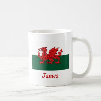 James Welsh Flag Coffee Mug