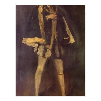 James Whistler- Arrangement in Black Postcard