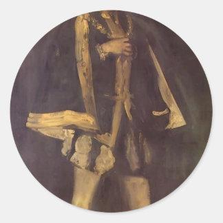 James Whistler- Arrangement in Black Classic Round Sticker