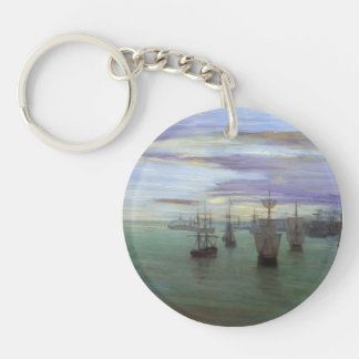 James Whistler- Crepuscule in Flesh Color & Green Keychains