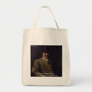 """James Whistler """"I'm Telling You"""" Quote Tote Bag"""