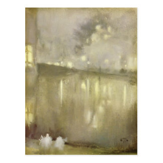 James Whistler: Nocturne Grey and Gold - Canal Postcard
