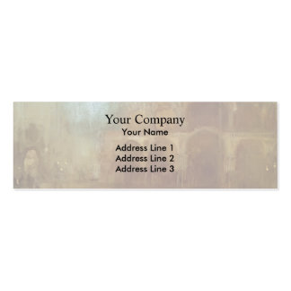 James Whistler- Nocturne: St Mark's, Venice Business Card Template