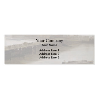 James Whistler- Old Battersea Bridge Double-Sided Mini Business Cards (Pack Of 20)