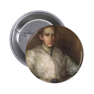 James Whistler- Portrait of Ellen Sturgis Hooper Pinback Button