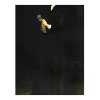 James Whistler- Portrait of Mrs. Cassatt Postcard