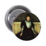 James Whistler- Portrait of Mrs. Walter Sickert 2 Inch Round Button