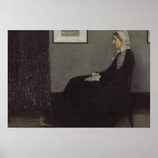 James Whistler - Portrait of the Artist's Mother Poster