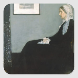 James Whistler-Portrait of the Artist's Mother Square Stickers