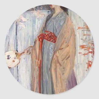 James Whistler-Princess from the Land of Porcelain Stickers