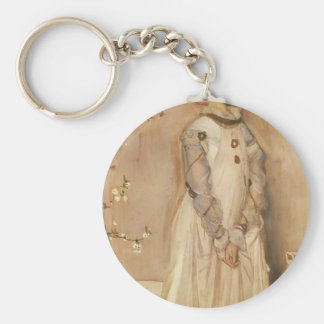 James Whistler- Symphony in Flesh Colour and Pink Keychains