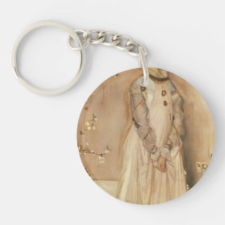 James Whistler- Symphony in Flesh Colour and Pink Keychain