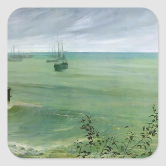James Whistler- Symphony in Grey and Green, Ocean Sticker