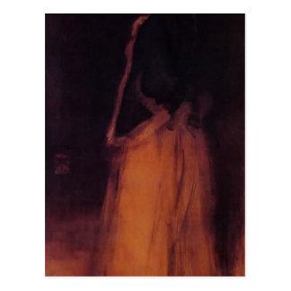 James Whistler- The Fur Jacket Postcard