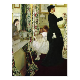 James Whistler- The Music Room Postcard