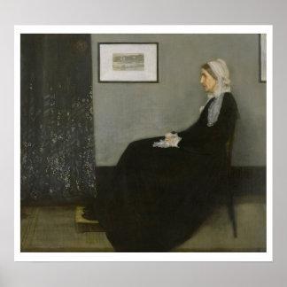 James Whistler - Whistler's Mother Poster