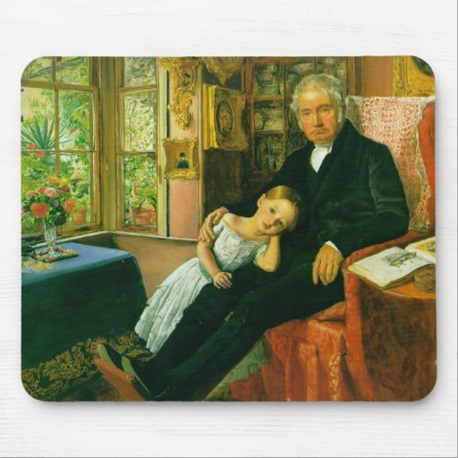 James Wyatt and his Granddaughter Mary Mouse Pad