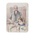 James Wyatt con su Grandaughter Maria, la más viej Imán Flexible