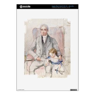 James Wyatt con su Grandaughter Maria, la más viej iPad 3 Pegatina Skin