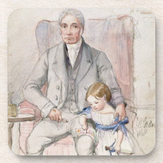James Wyatt with his Grandaughter Mary, Oldest Chi Beverage Coaster