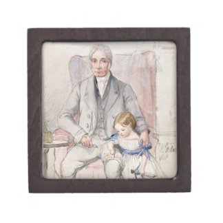 James Wyatt with his Grandaughter Mary, Oldest Chi Jewelry Box