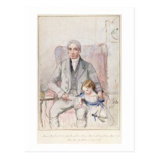 James Wyatt with his Grandaughter Mary, Oldest Chi Postcard