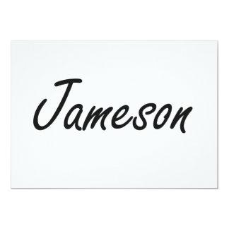 Jameson Artistic Name Design 5x7 Paper Invitation Card