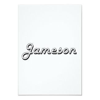 Jameson Classic Retro Name Design 3.5x5 Paper Invitation Card