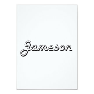 Jameson Classic Retro Name Design 5x7 Paper Invitation Card