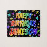 "[ Thumbnail: ""Jameson"" First Name, Fun ""Happy Birthday"" Jigsaw Puzzle ]"