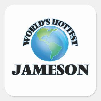Jameson más caliente del mundo pegatina cuadrada