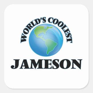 Jameson más fresco del mundo pegatina cuadrada