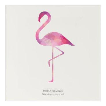 Art Themed James's Flamingo Acrylic Wall Art