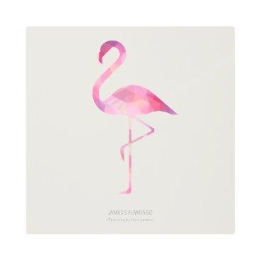 Art Themed James's Flamingo Metal Print