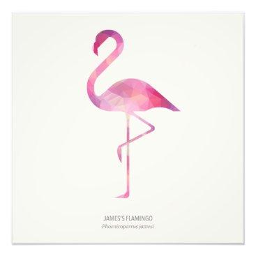 Art Themed James's Flamingo Photo Print