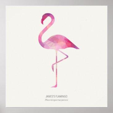 Art Themed James's Flamingo Poster