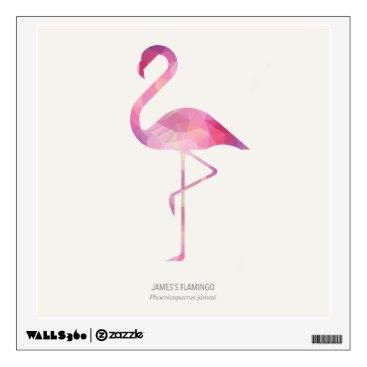 Art Themed James's Flamingo Wall Sticker