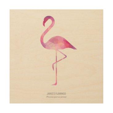 Art Themed James's Flamingo Wood Print