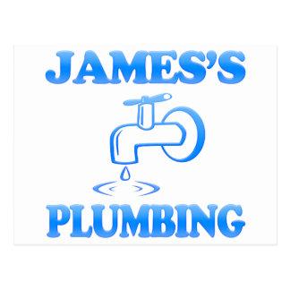James's Plumbing Postcard