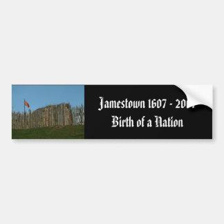Jamestown 1607 - 2007 nacimiento de una nación pegatina de parachoque