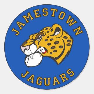"""Jamestown 1,5"""" pegatinas (hoja de 20) pegatina redonda"""
