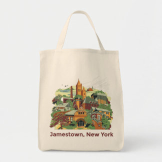 Jamestown Architecture Tote Bags