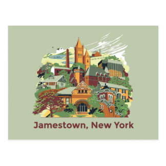 Jamestown Architecture Postcard