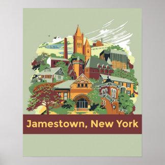 Jamestown Architecture Poster (16 x 20)