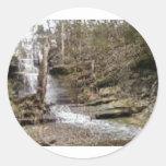 Jamestown Falls Classic Round Sticker