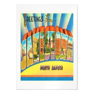 Jamestown North Dakota ND Vintage Travel Souvenir Magnetic Card